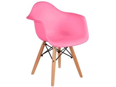 Image de la chaise design Silla niño Eames DAW - Rosa