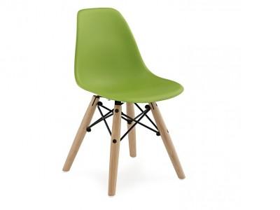 Image de la chaise design Silla Nino Eames DSW - Verde