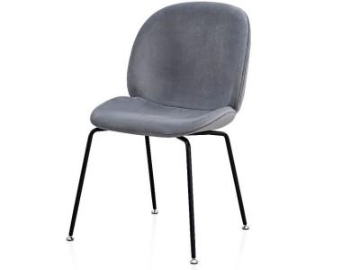 Image de la chaise design Silla Orville Mr. B  - Terciopelo Gris