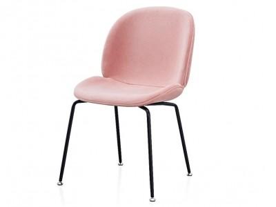 Image de la chaise design Silla Orville Mr. B  - Terciopelo Rosa