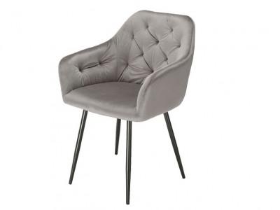 Image de la chaise design Silla Orville Vinny - Terciopelo Gris