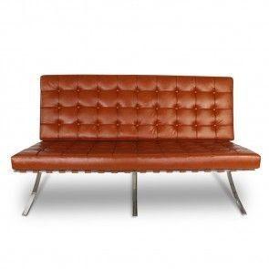Image de la chaise design Sofá Barcelona 2 plazas - Cognac