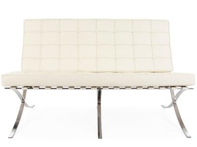 Image de la chaise design Sofá Barcelona 2 plazas - Crema