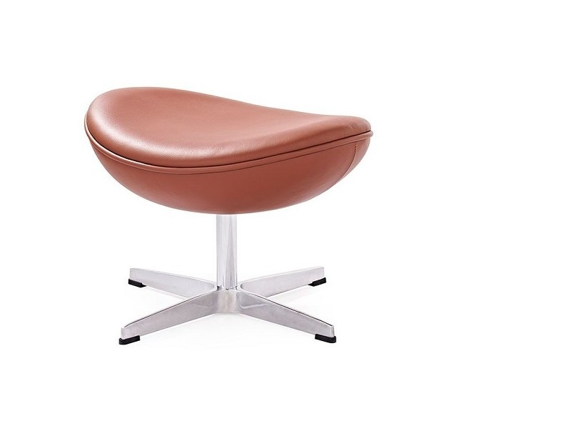 Image du fauteuil design Egg Ottoman Arne Jacobsen - Cognac