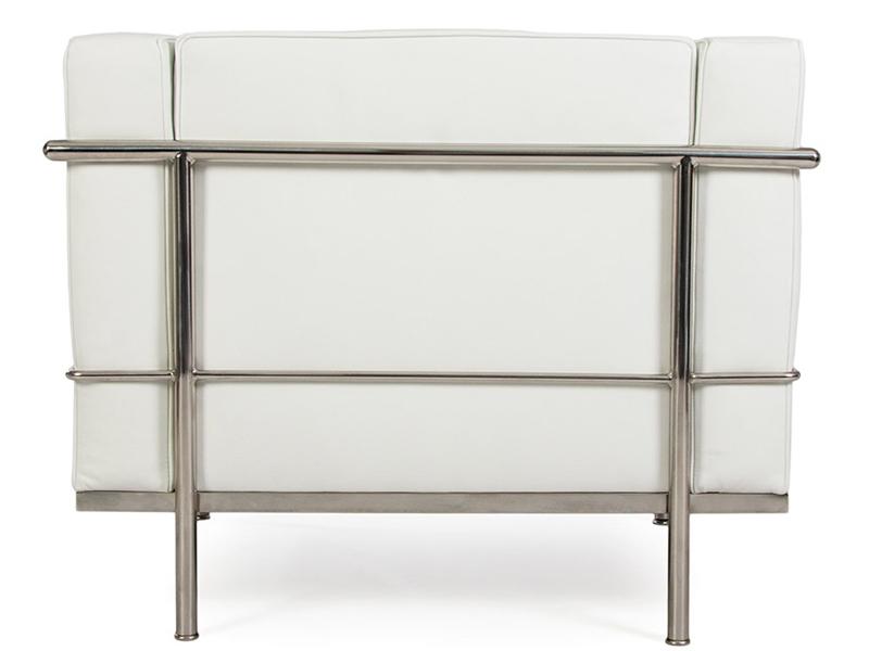 Image du fauteuil design LC2  Sillón Le Corbusier Large-Blanco