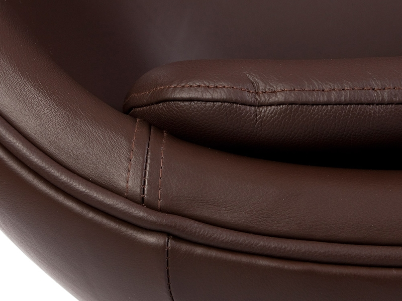 Image du fauteuil design Silla Egg AJ - Marron