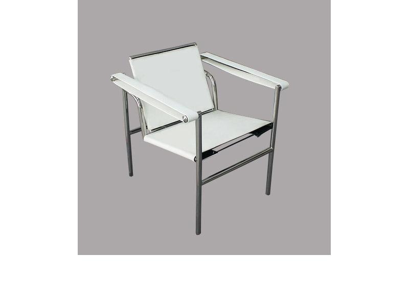 Image du fauteuil design Silla LC1 Le Corbusier - Blanca