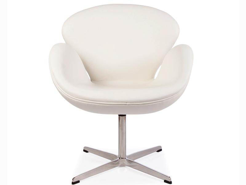 Image du fauteuil design Silla Swan Arne Jacobsen - Blanco