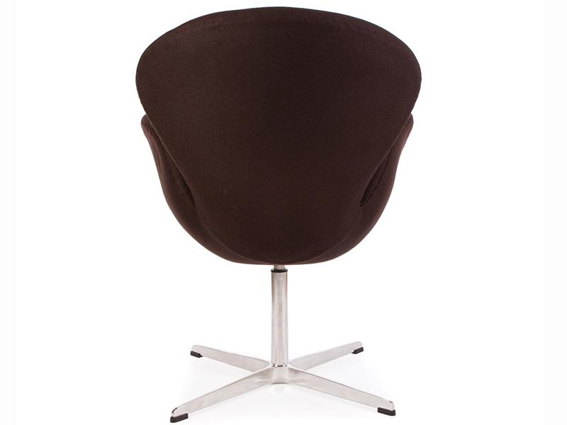 Image du fauteuil design Silla Swan Arne Jacobsen - Marrón