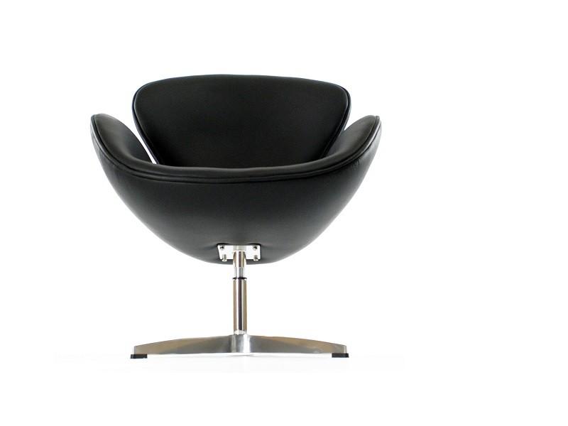 Image du fauteuil design Sillá Swan Arne Jacobsen - Negro