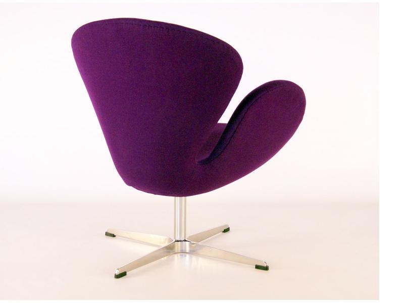 Image du fauteuil design Silla Swan Arne Jacobsen - Púrpura