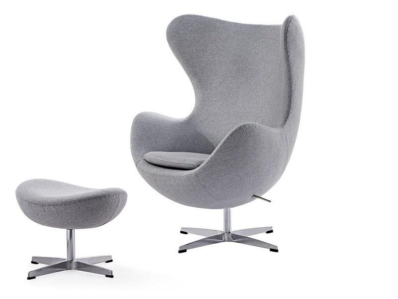 Image du fauteuil design Sillón Egg Arne COSYSEN - Gris claro