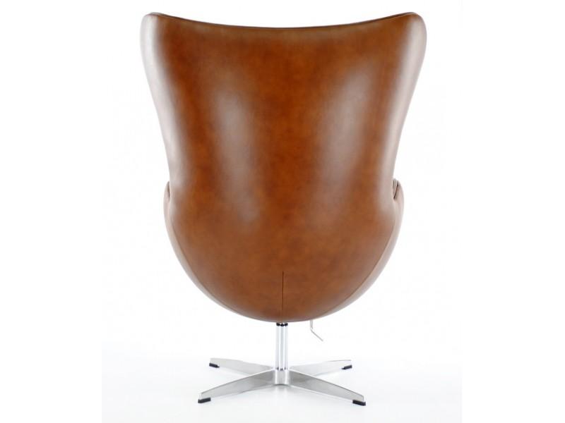 Image du fauteuil design Sillón Egg Arne Jacobsen - Marron