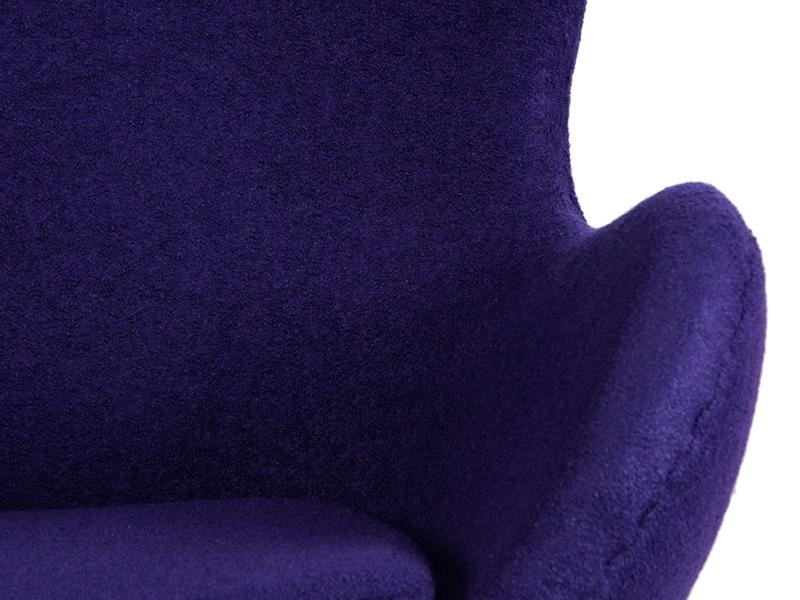 Image du fauteuil design Sillón Egg Arne Jacobsen - Púrpura