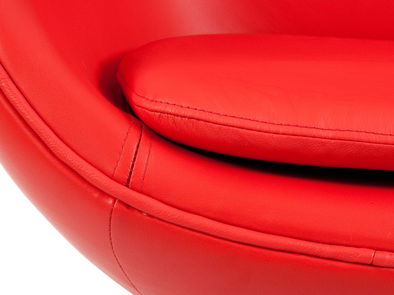 Image du fauteuil design Sillón Egg Arne Jacobsen - Rojo