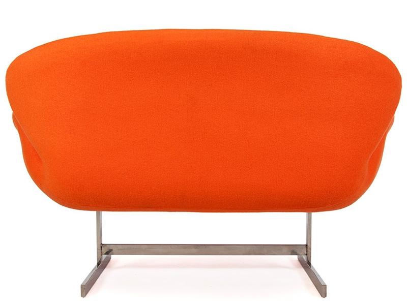 Image du fauteuil design Swan 2 plazas Arne Jacobsen - Naranja