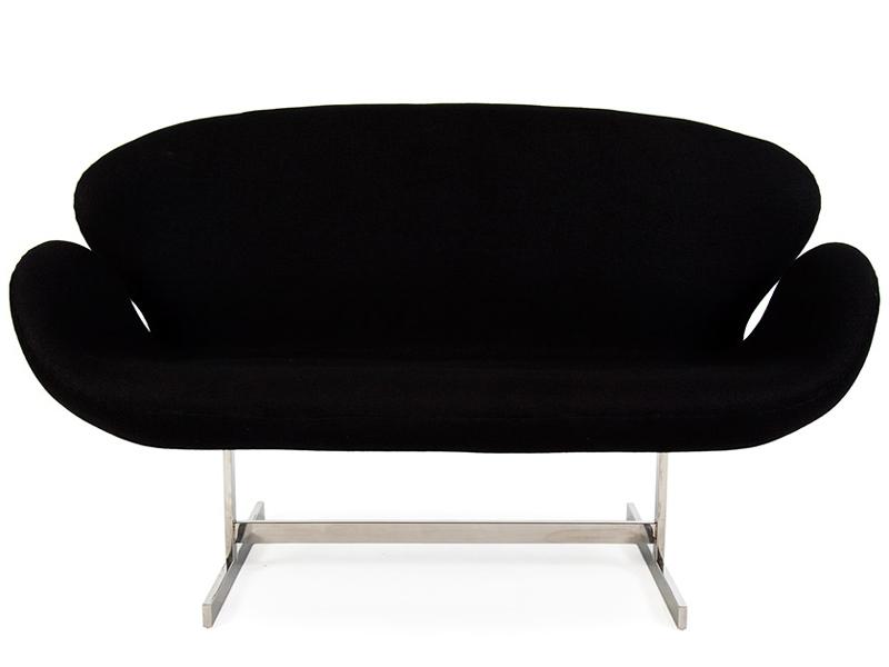 Image du fauteuil design Swan 2 plazas Arne Jacobsen - Negro