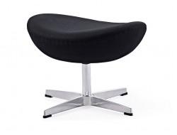 Image du fauteuil design Egg Ottoman Arne Jacobsen - Negro