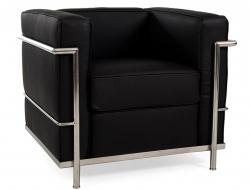 Image du fauteuil design LC2 Silla Le Corbusier - Negro