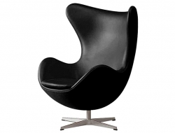 Image du fauteuil design Silla Egg Arne Jacobsen - Negro