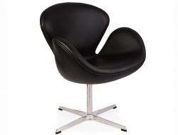 Image du fauteuil design Silla Swan Arne Jacobsen - Negro