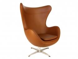 Image du fauteuil design Sillón Egg Arne Jacobsen - Caramel