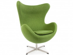 Image du fauteuil design Sillón Egg Arne Jacobsen - Verde