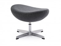 Image du fauteuil design Egg Ottoman Arne Jacobsen - Gris