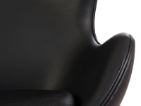 Image du fauteuil design Silla Egg AJ - Negro