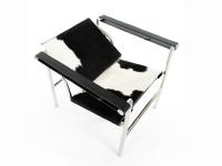 Image du fauteuil design Silla LC1 Le Corbusier - Pony negro