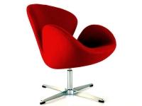 Image du fauteuil design Silla Swan Arne Jacobsen - Rojo