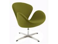 Image du fauteuil design Silla Swan Arne Jacobsen - Verde oliva