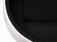 Image du fauteuil design Sillón Egg Oval Earo Aarnio - Negro