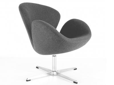 Image du fauteuil design Silla Swan Arne Jacobsen - Gris