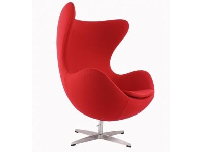 Image du fauteuil design Sillón Egg AJ - Rojo
