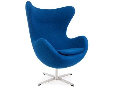 Image du fauteuil design Sillón Egg Arne Jacobsen - Azul