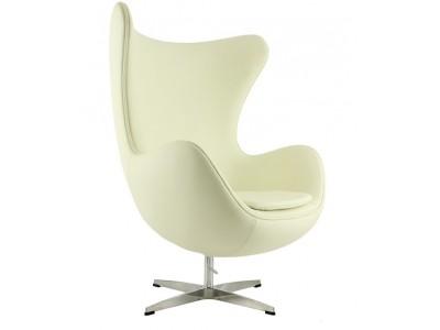 Image du fauteuil design Sillón Egg Arne Jacobsen - crema blanca