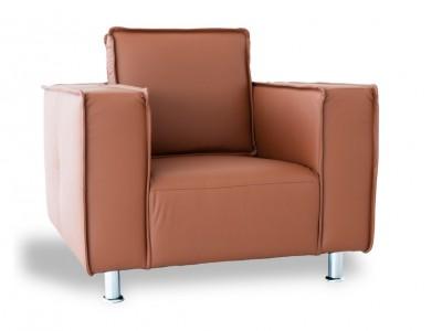 Image du fauteuil design Sillón Poleric - piel caramelo