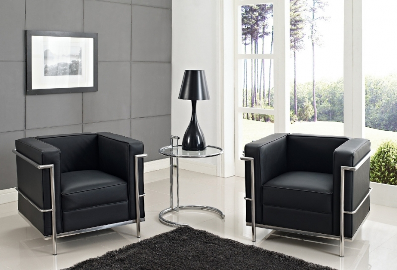 fauteuil lc2 le corbusier famous design reproductions de meubles design. Black Bedroom Furniture Sets. Home Design Ideas