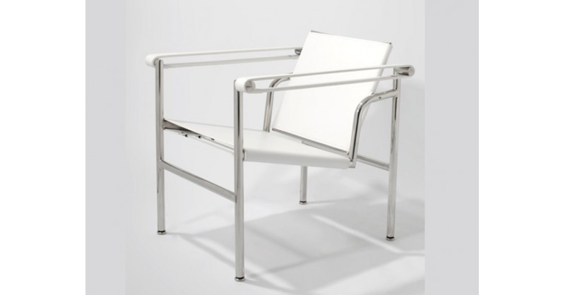 chaise lc1 le corbusier blanc. Black Bedroom Furniture Sets. Home Design Ideas