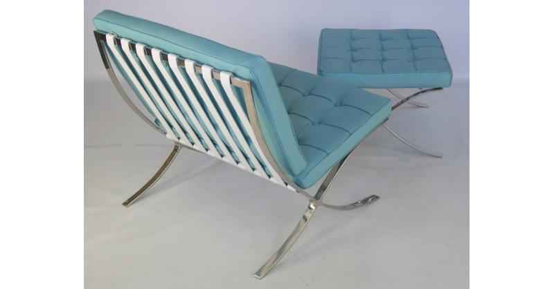 barcelona chair sky blue. Black Bedroom Furniture Sets. Home Design Ideas