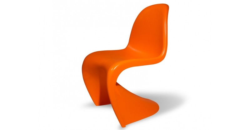 Sedia panton arancione for Sedia design panton