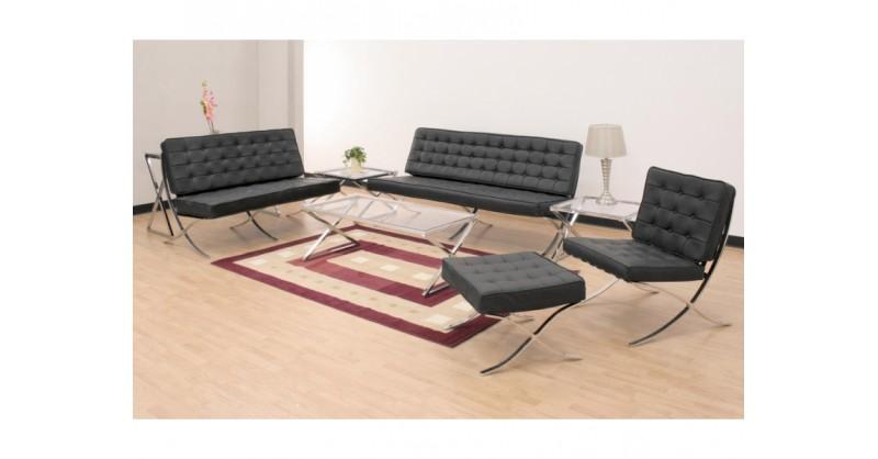 Barcelona Sofa 2 Sitzer Schwarz
