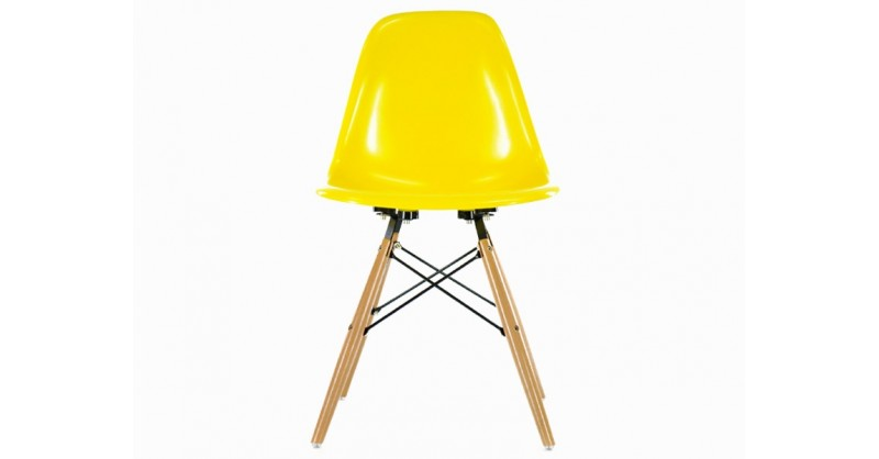 Chaise dsw jaune brillant for Chaise dsw jaune moutarde