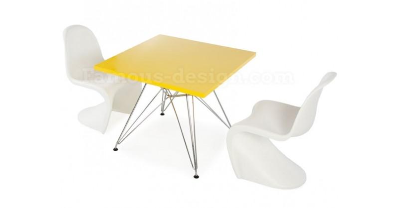 Table enfant eiffel 2 chaises panton - Chaise panton blanche ...