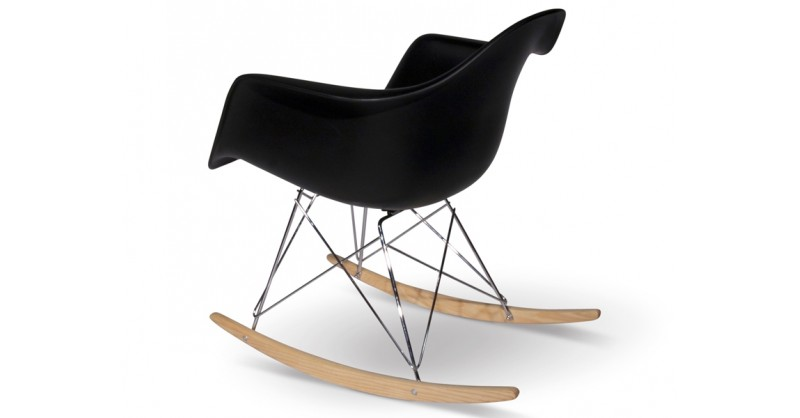 eames rocking chair rar noir. Black Bedroom Furniture Sets. Home Design Ideas
