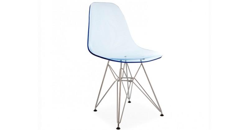 Dsr stuhl durchsichtig blau for Design stuhl durchsichtig