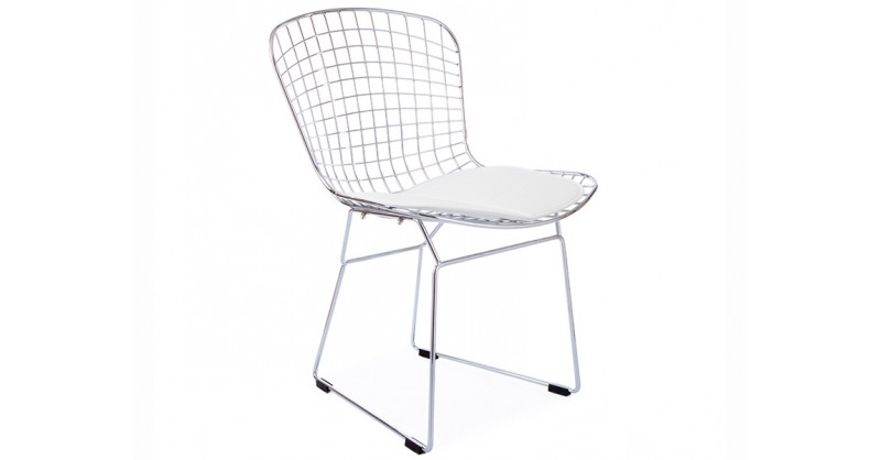 Chaise bertoia wire side blanc for Bertoia chaise prix