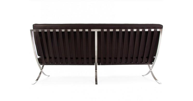 Barcelona Sofa 3 Seater Dark Brown