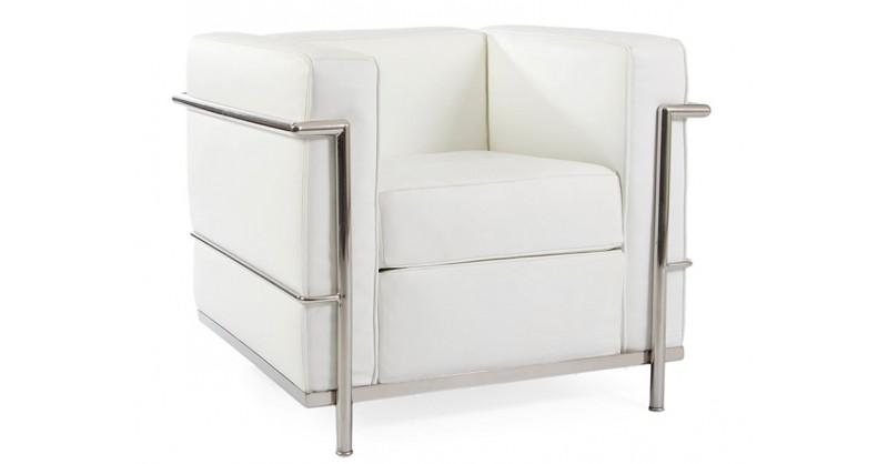 Lc2 fauteuil le corbusier blanc for Le corbusier poltrona